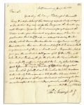 Thomas Nelson Signed Letter on Benedict Arnolds Whereabouts at the Beginning of the Virginia Campaign That Would Lead to Yorktown -- ...Yesterday the enemys fleet passed Burwells Ferry...