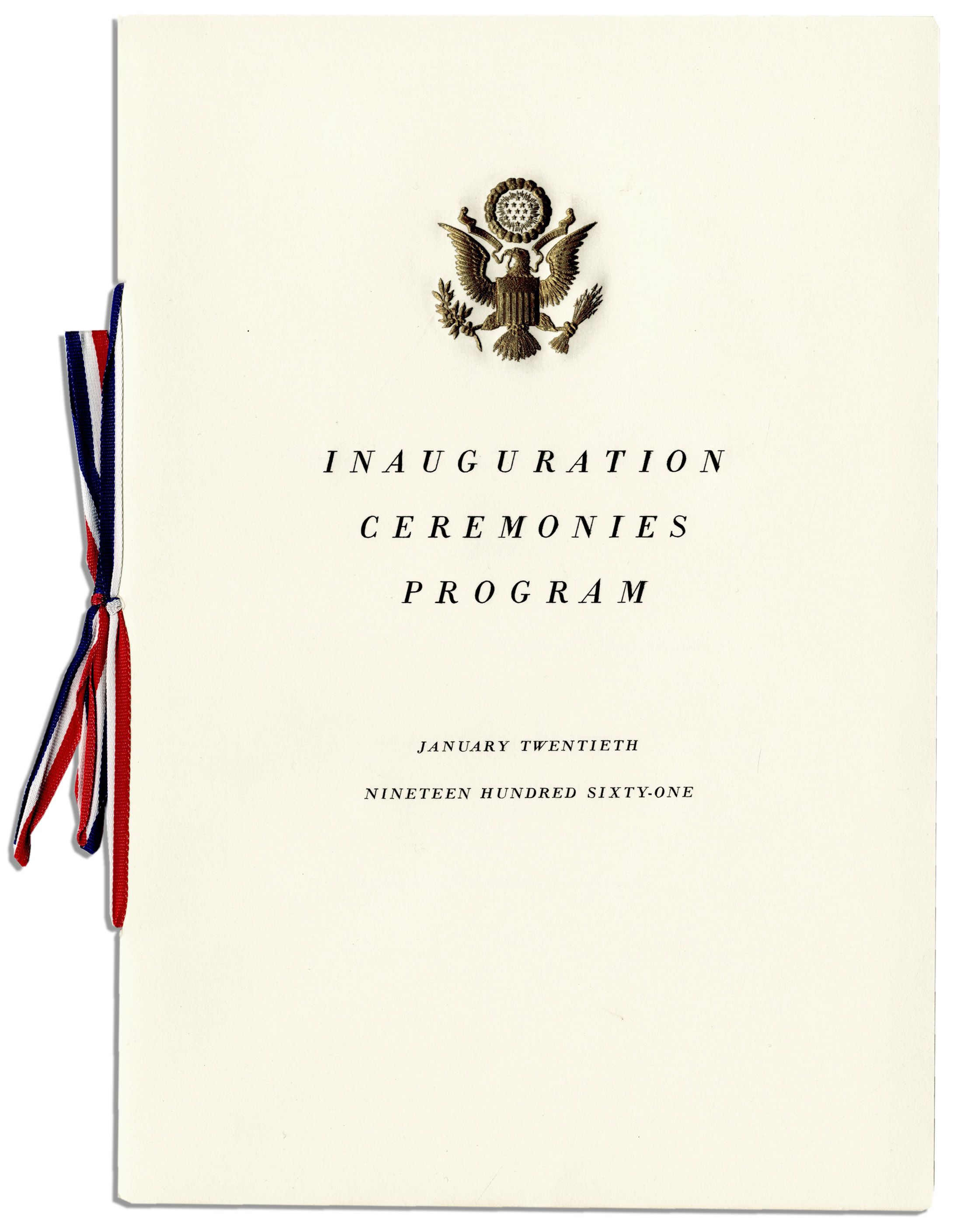 Lot Detail - John F. Kennedy's Presidential Inauguration ...