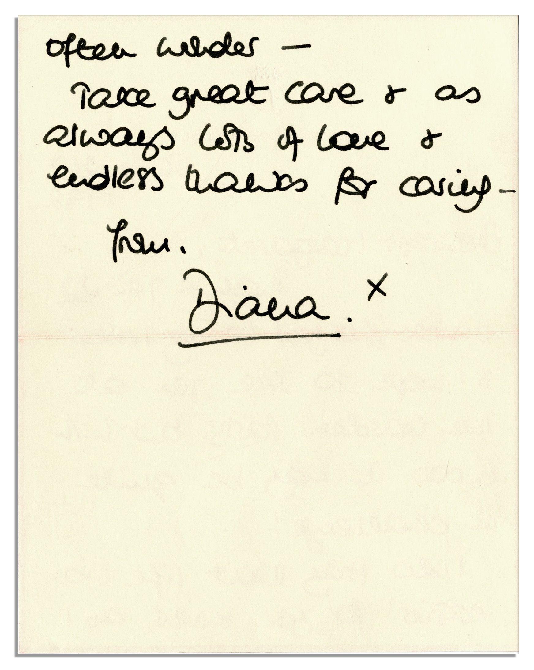 lot detail princess diana 1992 autograph letter signed With autograph letters