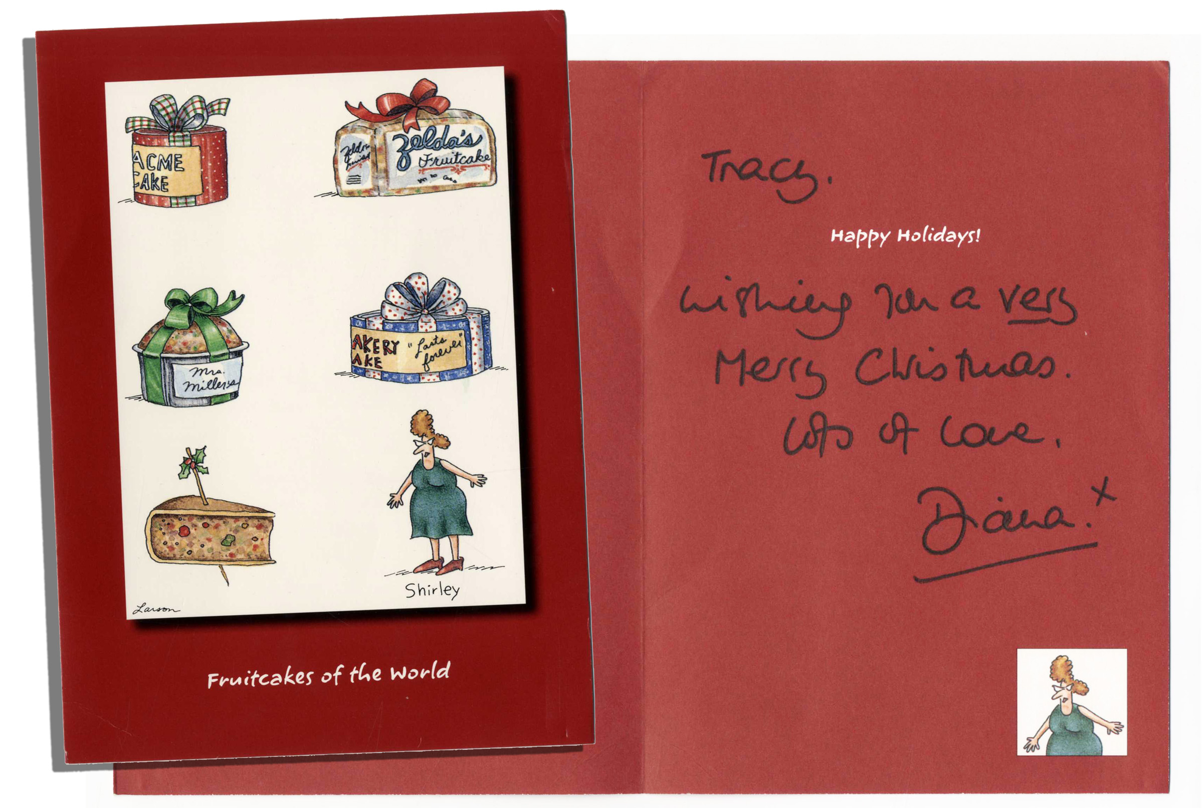 Lot Detail - Funny Christmas Card Signed and Sent by Princess Diana ...