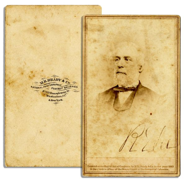 Signed Robert E. Lee CDV -- With Brady Backstamp