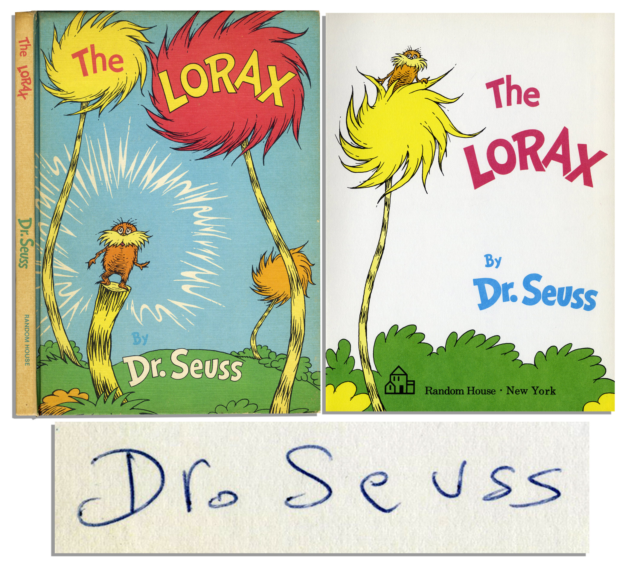 Dr. Seuss Autograph Very Rare ''The Lorax'' First Edition, First Printing Signed by Dr. Seuss