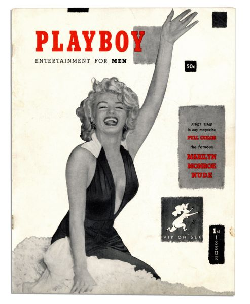 ''Playboy'' Magazine December 1953 First Issue -- Marilyn Monroe ''Sweetheart of the Month''