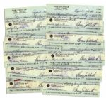 Lot of 10 Barry Goldwater Checks Signed From 1986