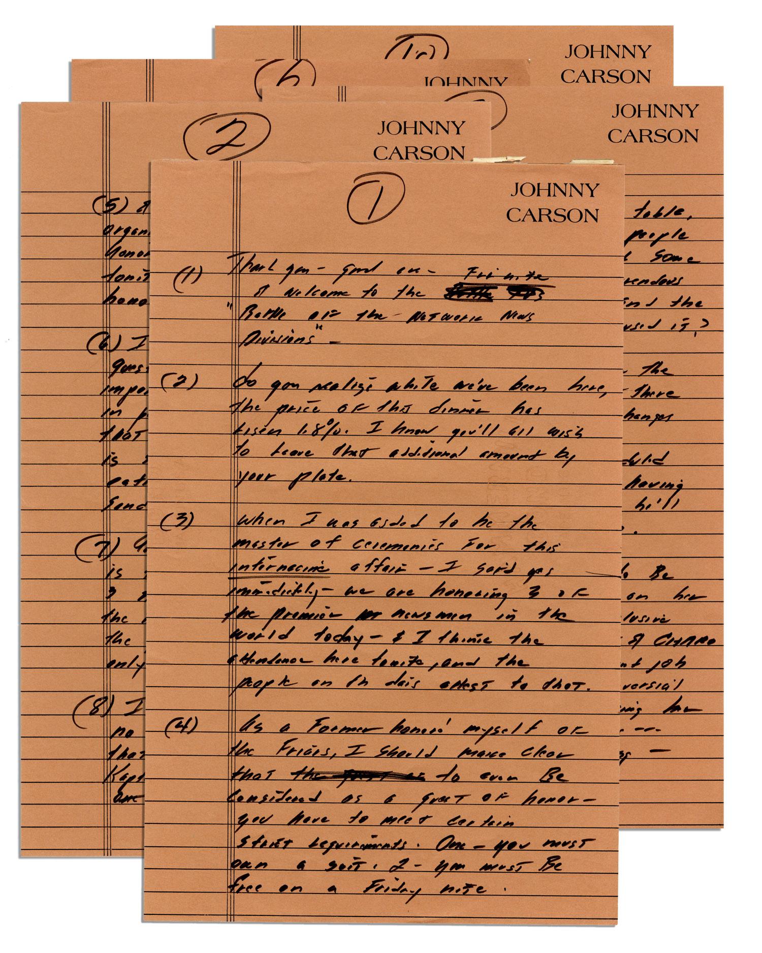 Johnny Carson Memorabilia