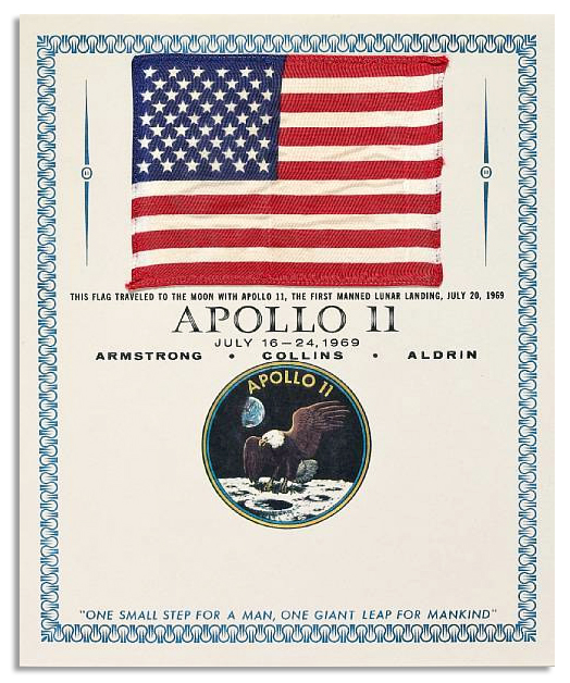 Apollo 11 Flag Flown to the Moon Exceptionally Scarce Apollo 11 Flag Flown to the Moon -- the Finest Lunar Flag One Could Hope to Own