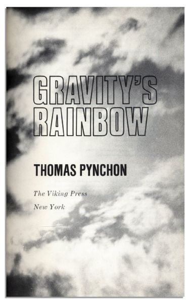 The Great Rarity of the Signed Book Trade -- A Thomas Pynchon ''Gravity's Rainbow'' Autographed 1st Edition, 1st Printing -- With PSA/DNA COA