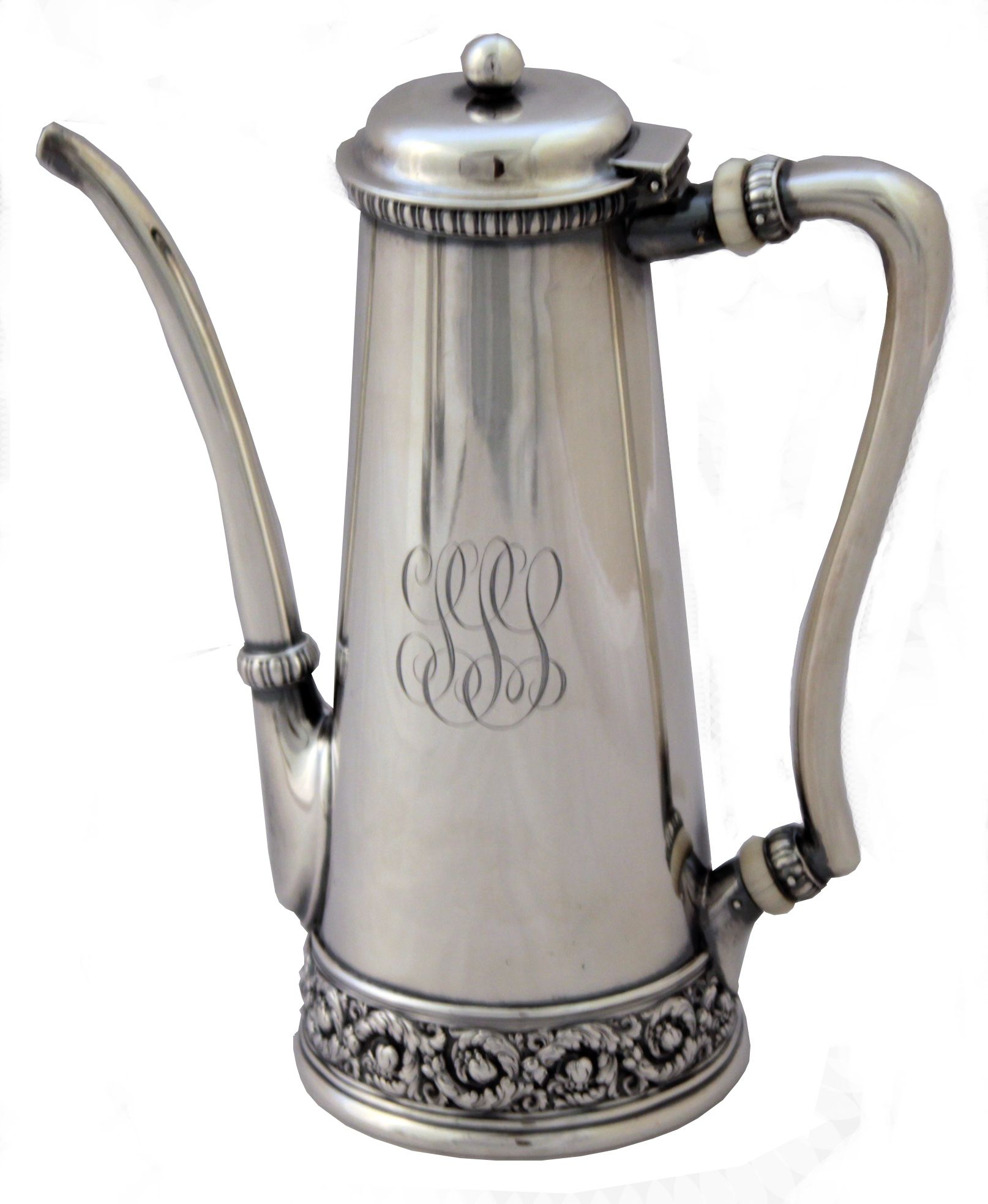 Sterling Silver Coffee Set Dating From The Late 1800s
