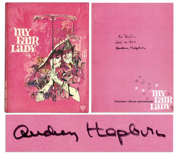 Audrey Hepburn Costume Auction Audrey Hepburn Autograph Unique Audrey Hepburn Signed Copy of ''My Fair Lady''