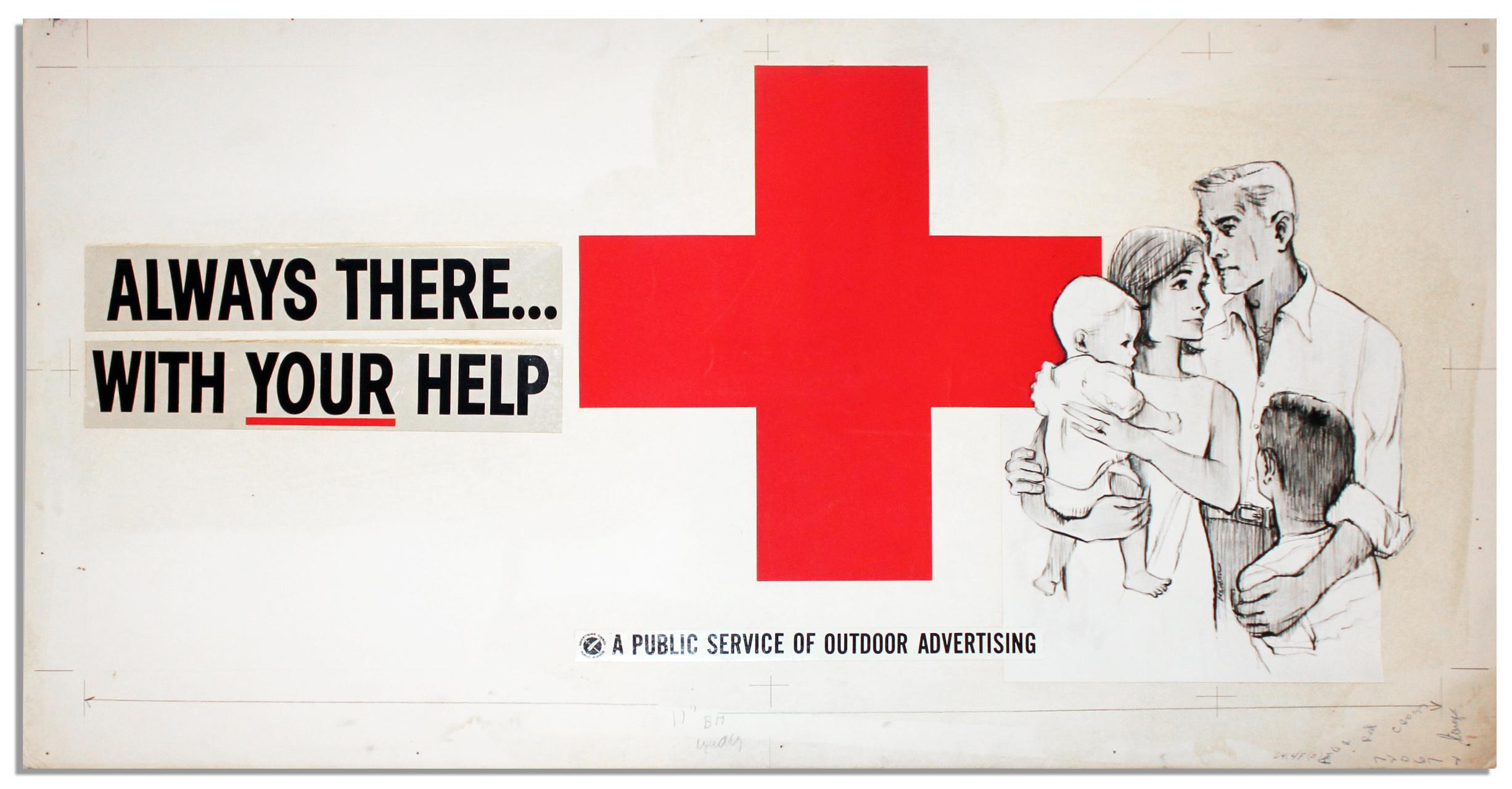 Lot Detail Original Red Cross Poster Sample Always