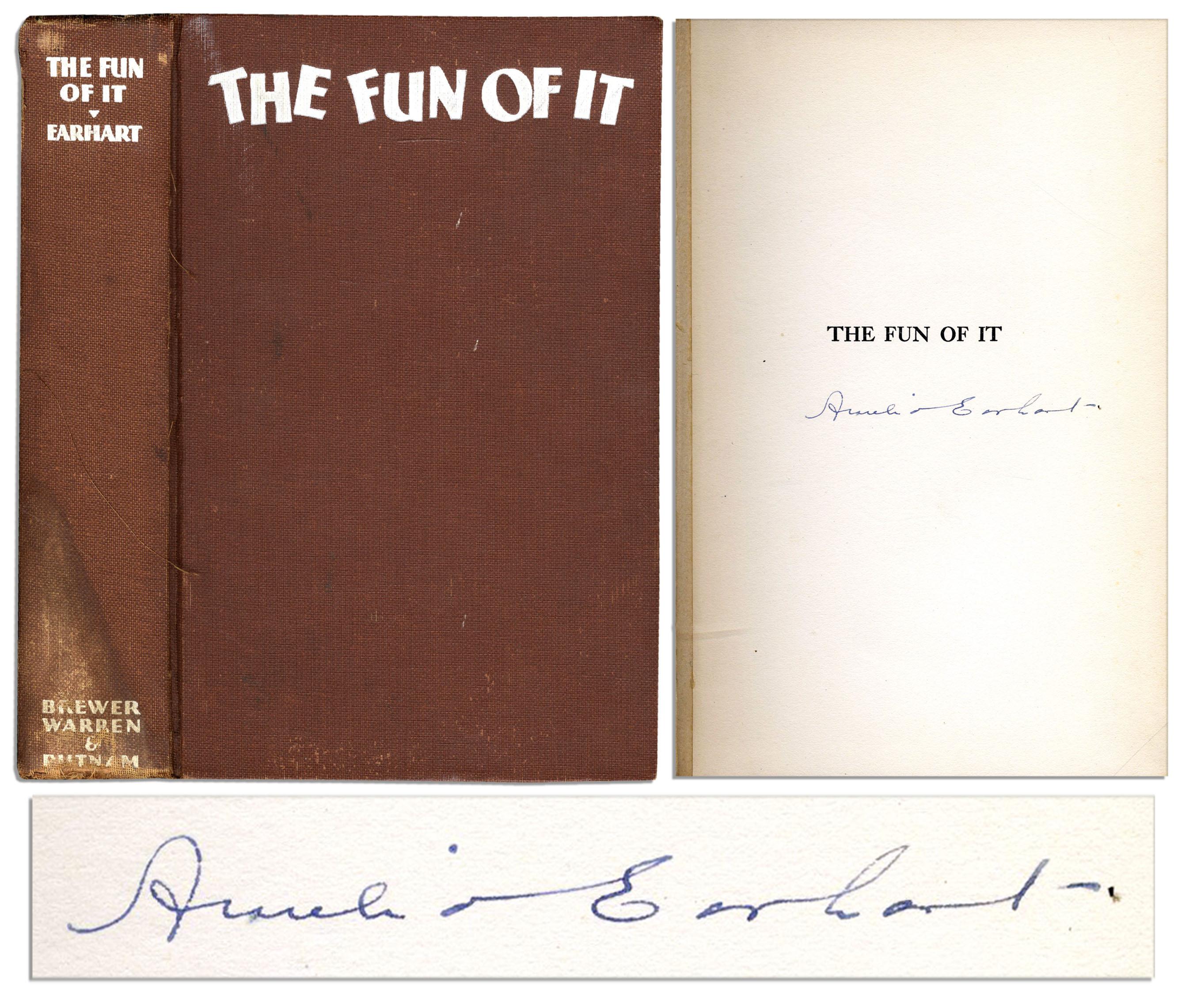 Amelia Earhart Fun of It signed