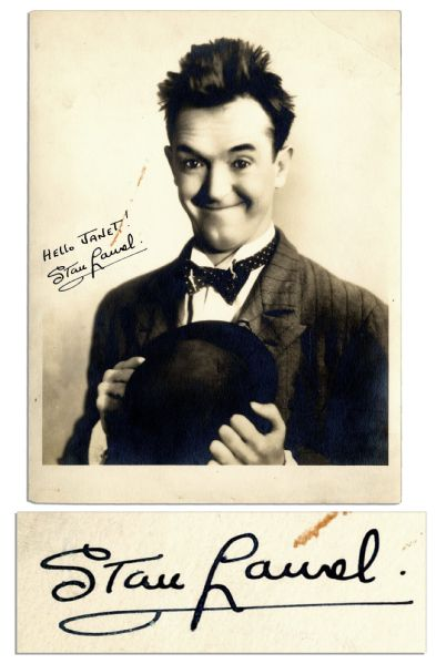 Young Stan Laurel Signed Photo