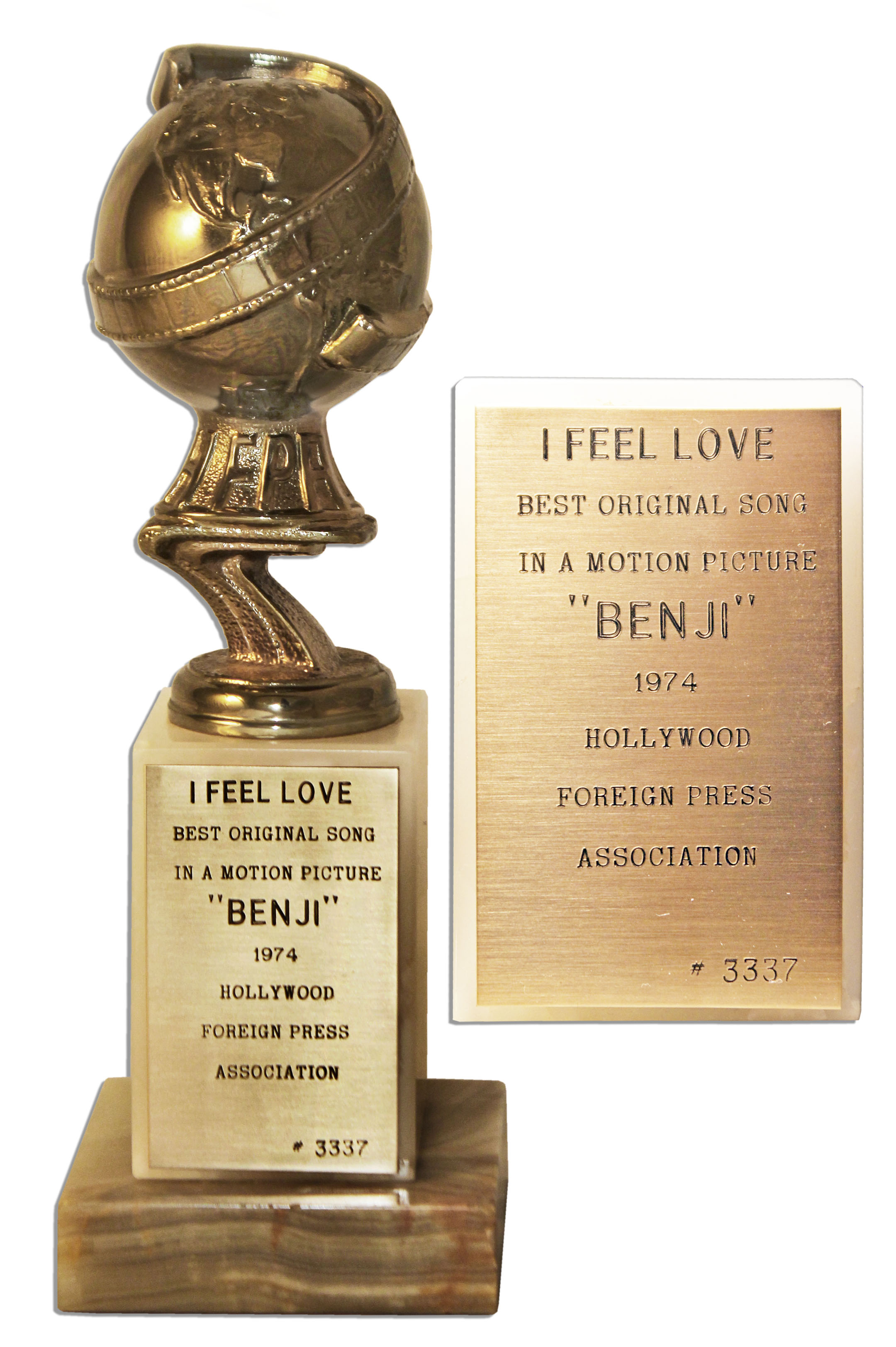 Lot Detail Golden Globe Award For I Feel Love
