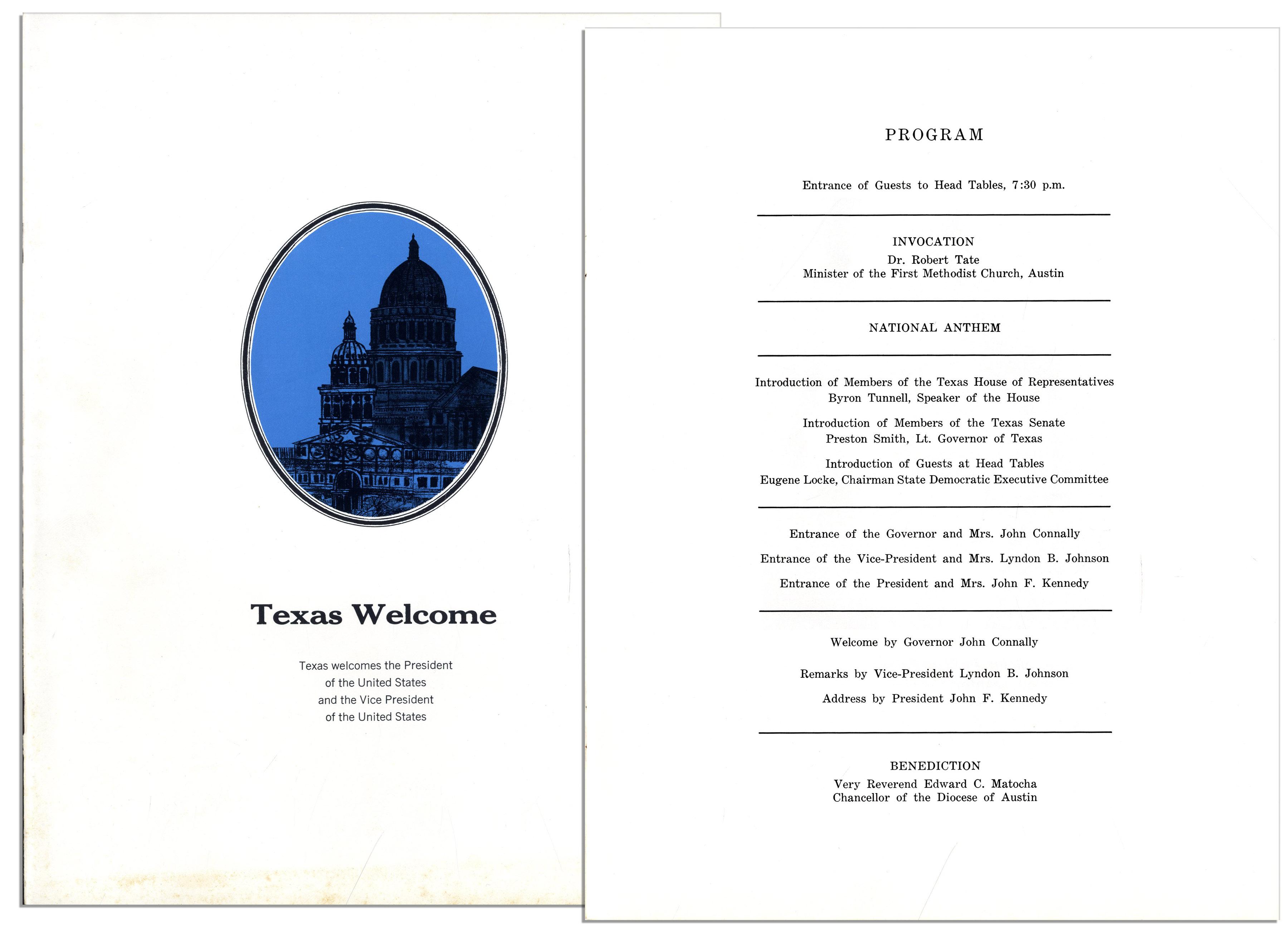 Dinner Program Welcome'' Dinner Program