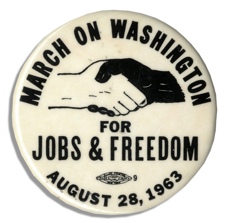 Lot Detail March On Washington Pin The Same Kind Worn By Martin