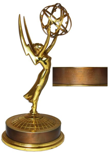 Emmy Award From the Very First Emmy Awards Ceremony, Held in 1949 -- Won by the series Your Show Time -- TV's First Dramatic Series To Win An Emmy Or To Be Shot On Film!