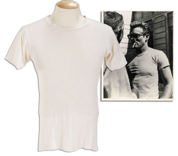James Dean Costume Auction James Dean Screen-Worn T-shirt in ''Rebel Without a Cause'' -- Film Prompted National Frenzy of T-shirt Sales