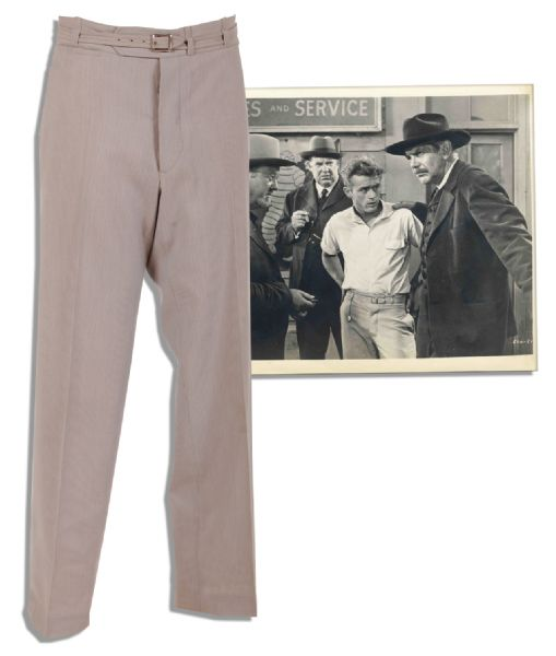 James Dean Costume Auction James Dean Screen-Worn Pants From ''East of Eden''
