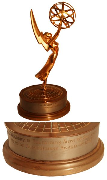 Rare, Early 1954 ''Station Achievement'' Emmy Award From the Academy of Television Arts and Sciences -- Gorgeous, Rare Statue From the Early Days of the Television Medium