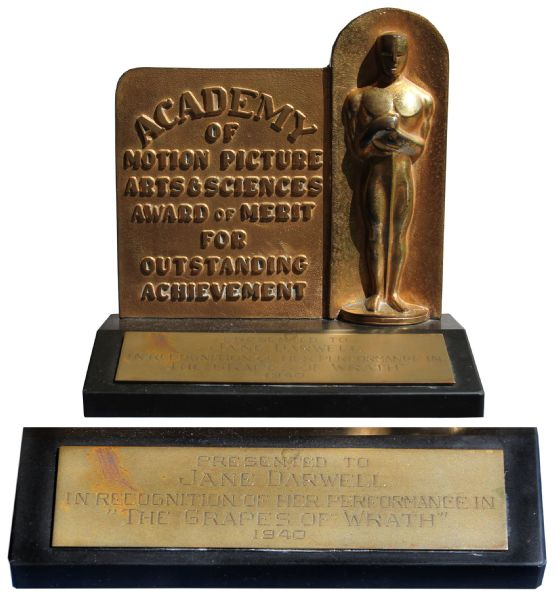 ''The Grapes of Wrath'' Academy Award -- Jane Darwell's Best Supporting Actress Oscar for the 1940 Classic