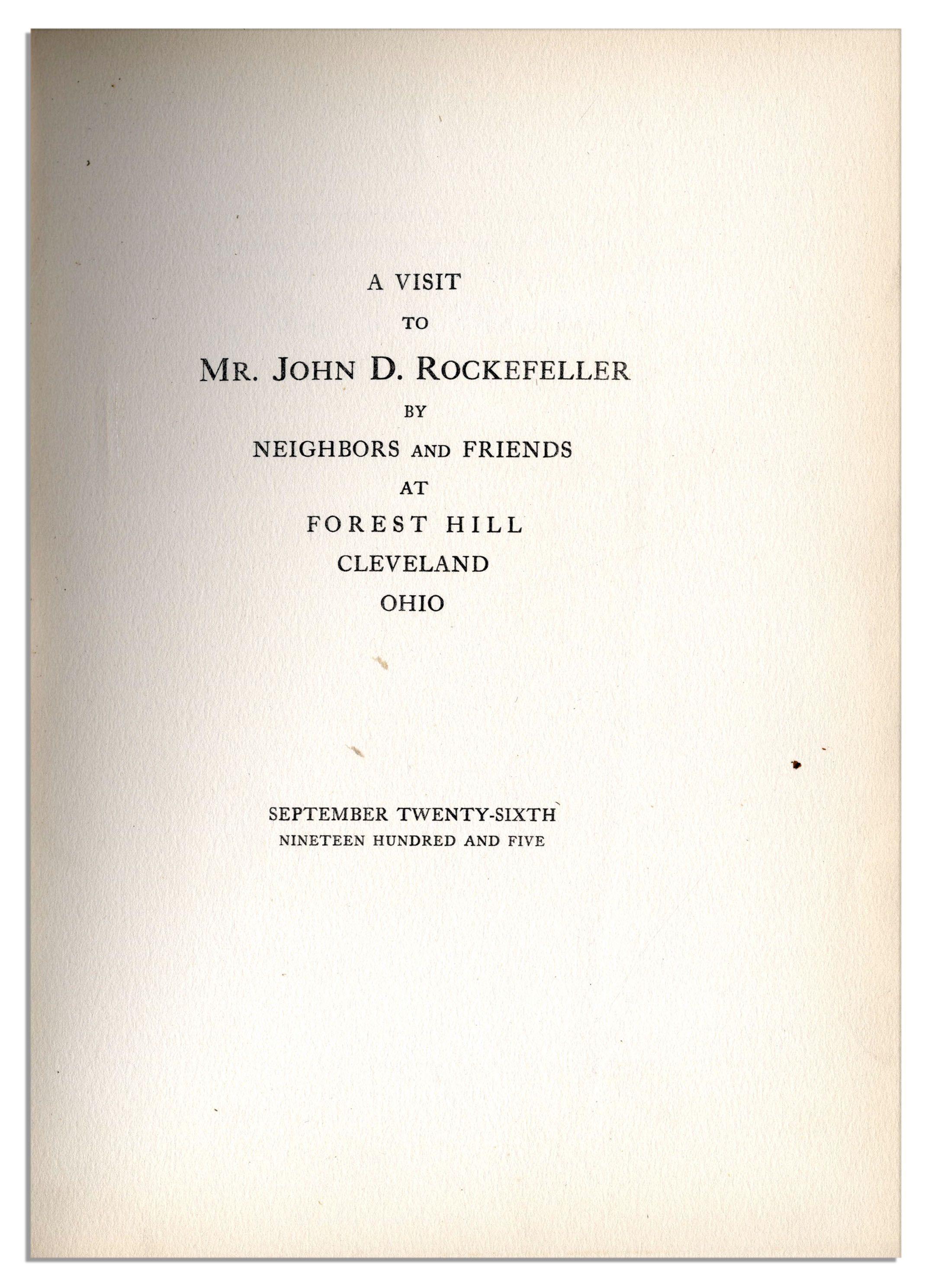John D. Rockefeller Oil Company