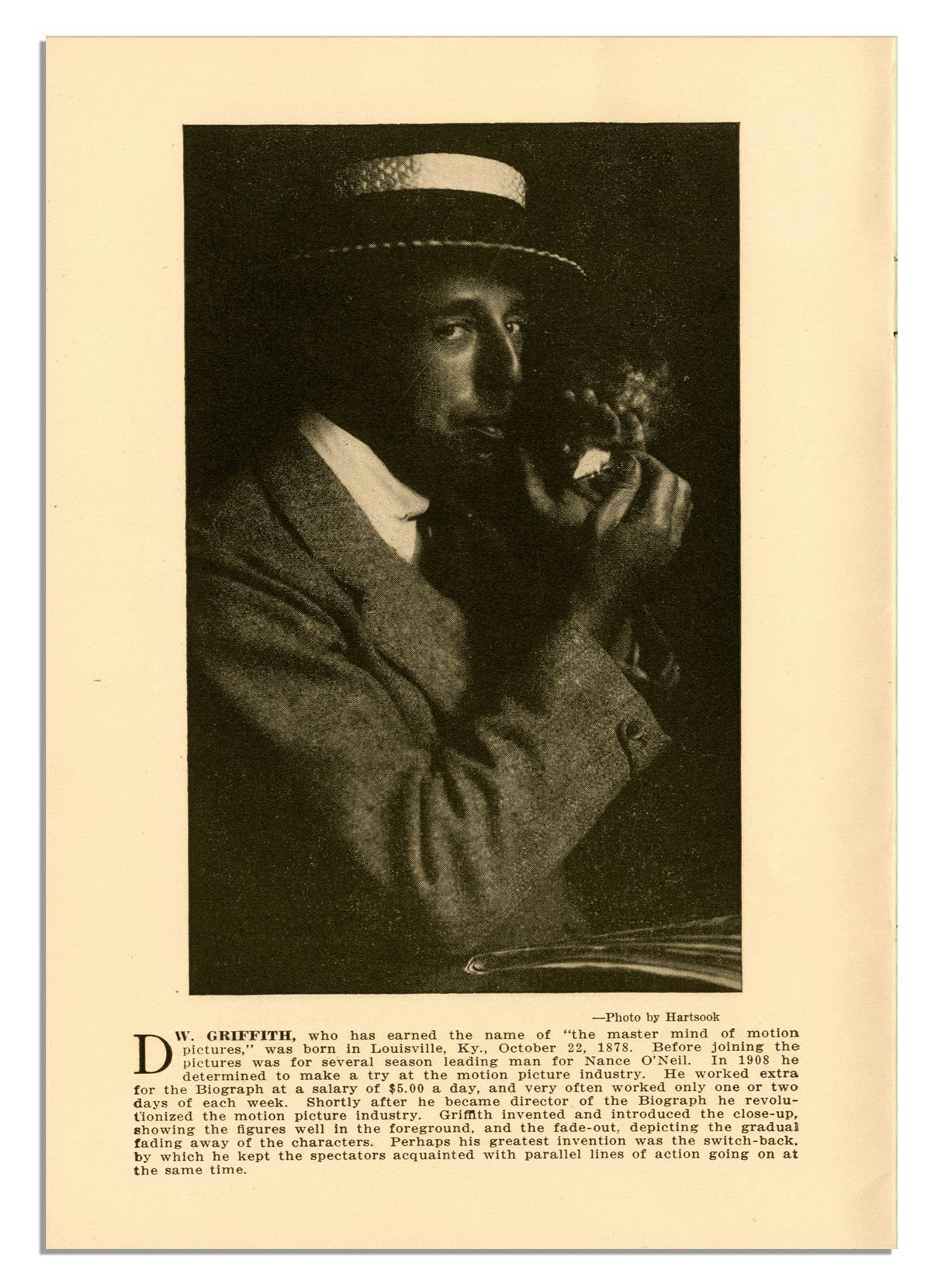 d w griffith s birth of a B 22 january, 1875, oldham county, kentucky, usa d 24 july, 1948, los angeles, california, usa filmography select bibliography articles in senses web resources the birth of an art.