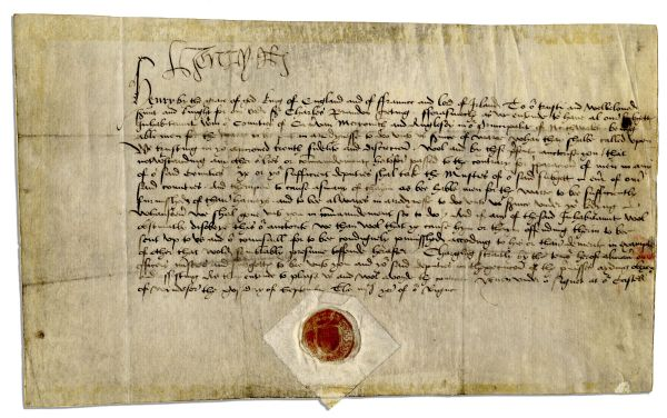 Richard III Autograph This lot is closed for bidding. Bidding ended on 8/30/2012