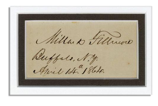 Lot Detail - Mi... Millard Fillmore Signature