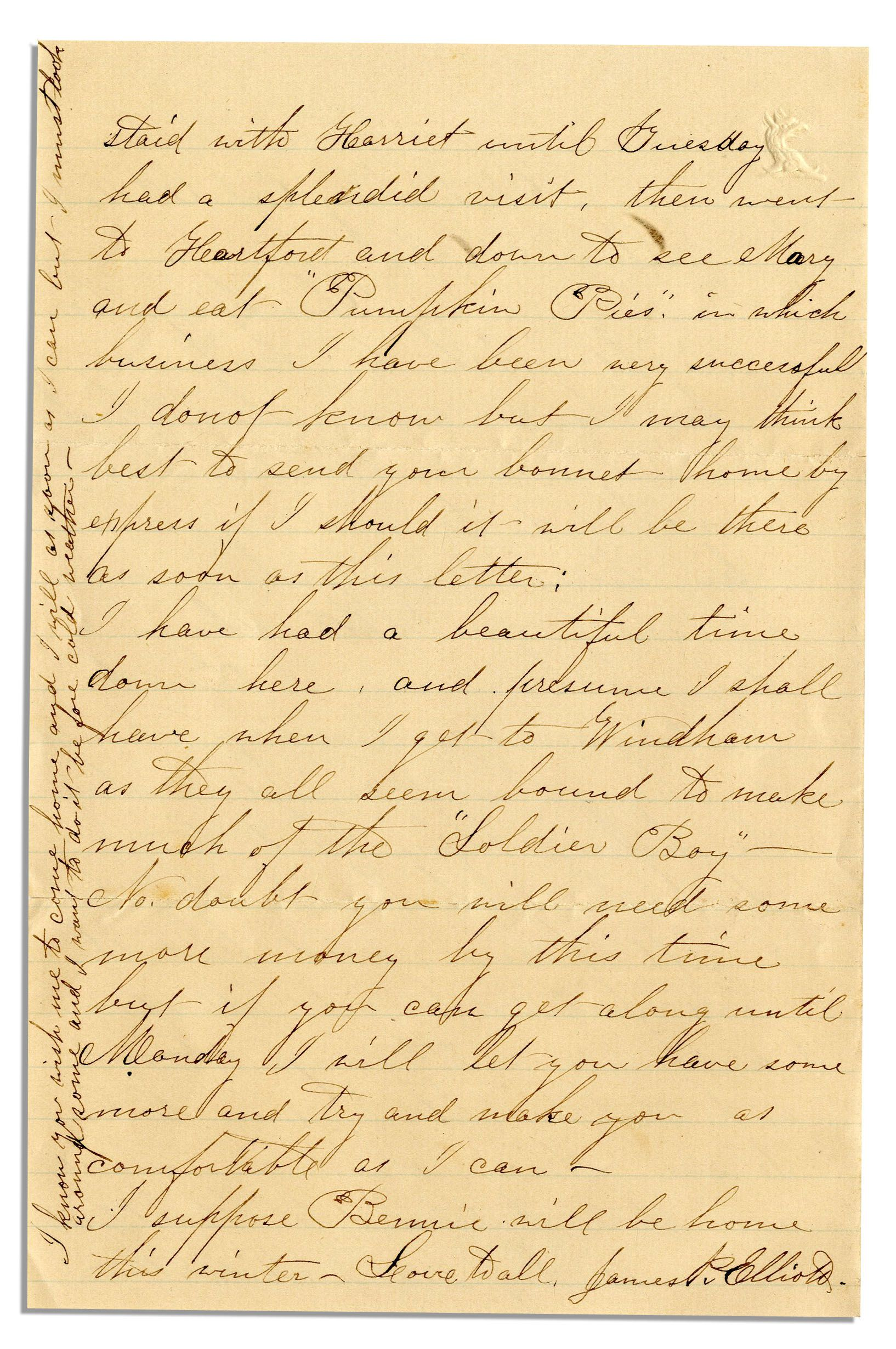 civil war letter by 1st ct heavy artilleryman they