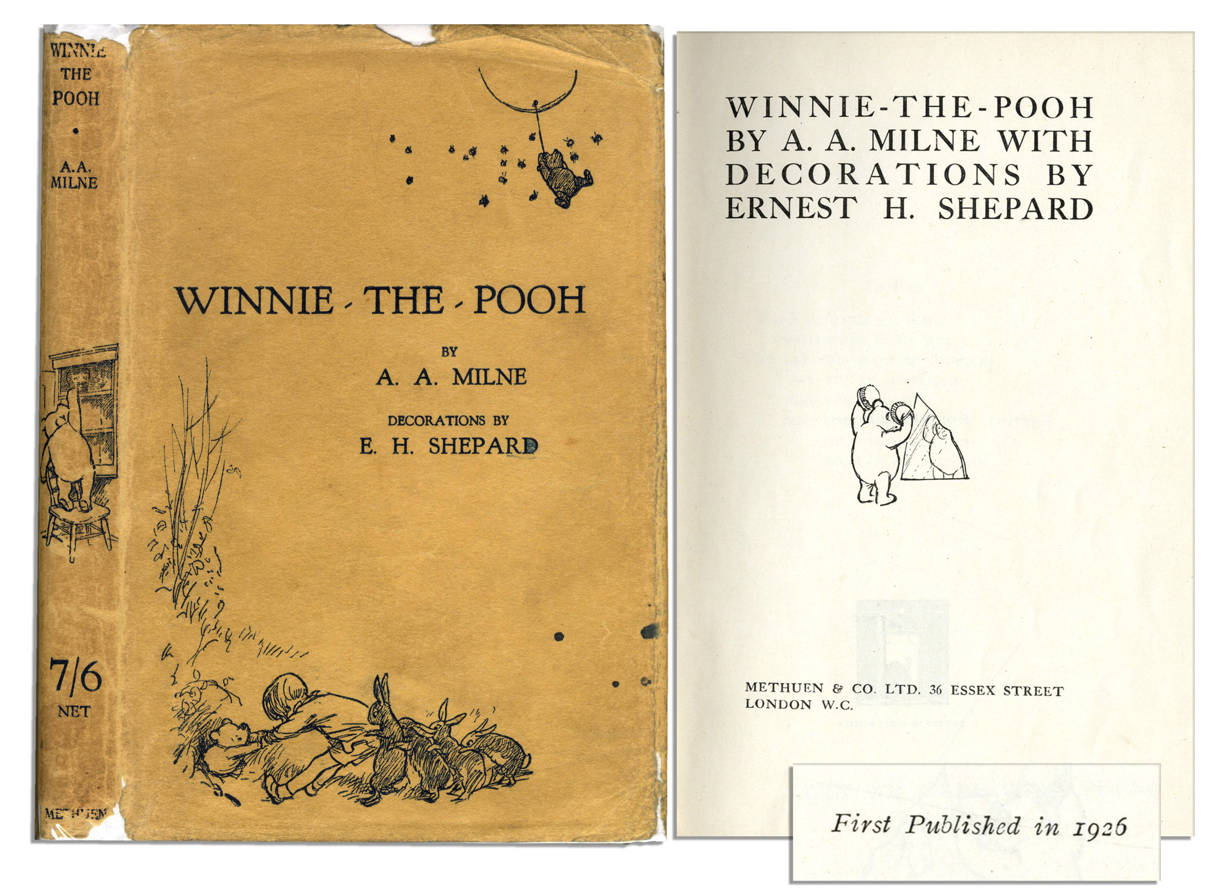 Scarce First Printing of ''Winnie the Pooh'' by A.A. Milne - ...