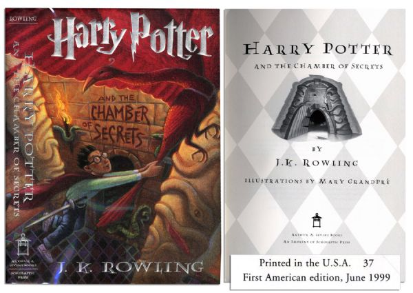 ''Harry Potter and the Chamber of Secrets'' -- First American Edition, First Printing
