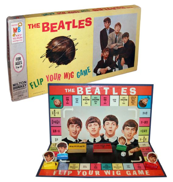 The Beatles ''Flip Your Wig'' Board Game -- From The Height of Beatlemania