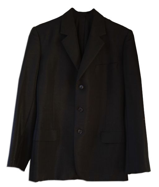 Al Pacino Godfather II Screen-Worn Suit Jacket -- From The Scene When Michael Corleone Reveals to Fredo He is Aware of His Betrayal -- ''...You broke my heart...''