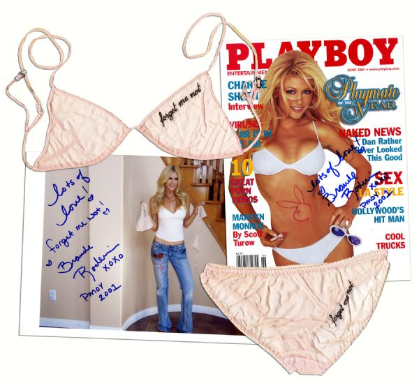 Brande Roderick Lingerie Worn in Her Playboy Centerfold Shoot as Playmate of The Year -- With Signed Magazine, 8'' x 10'' Photo, and Polaroids From the Shoot