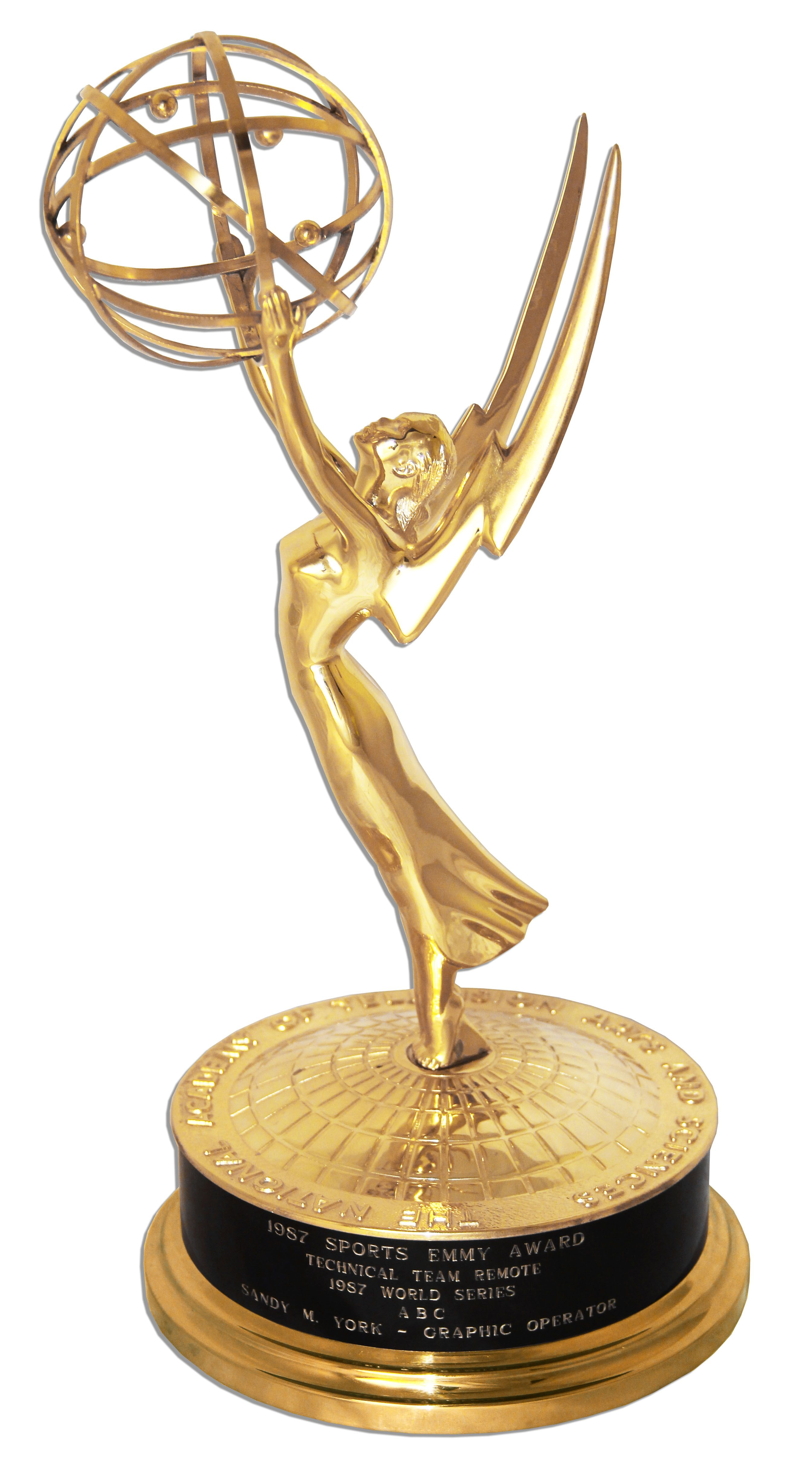 Lot Detail - Scarce World Series Emmy Award -- Sports Emmy Award Category for ABC's Coverage of ... Emmy Awards