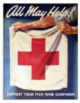 Red Cross Poster -- All May Help! -- 1950