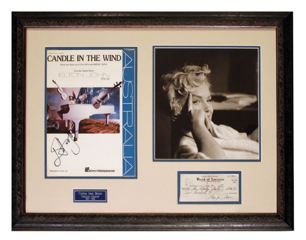 Check Written and Signed by Marilyn Monroe