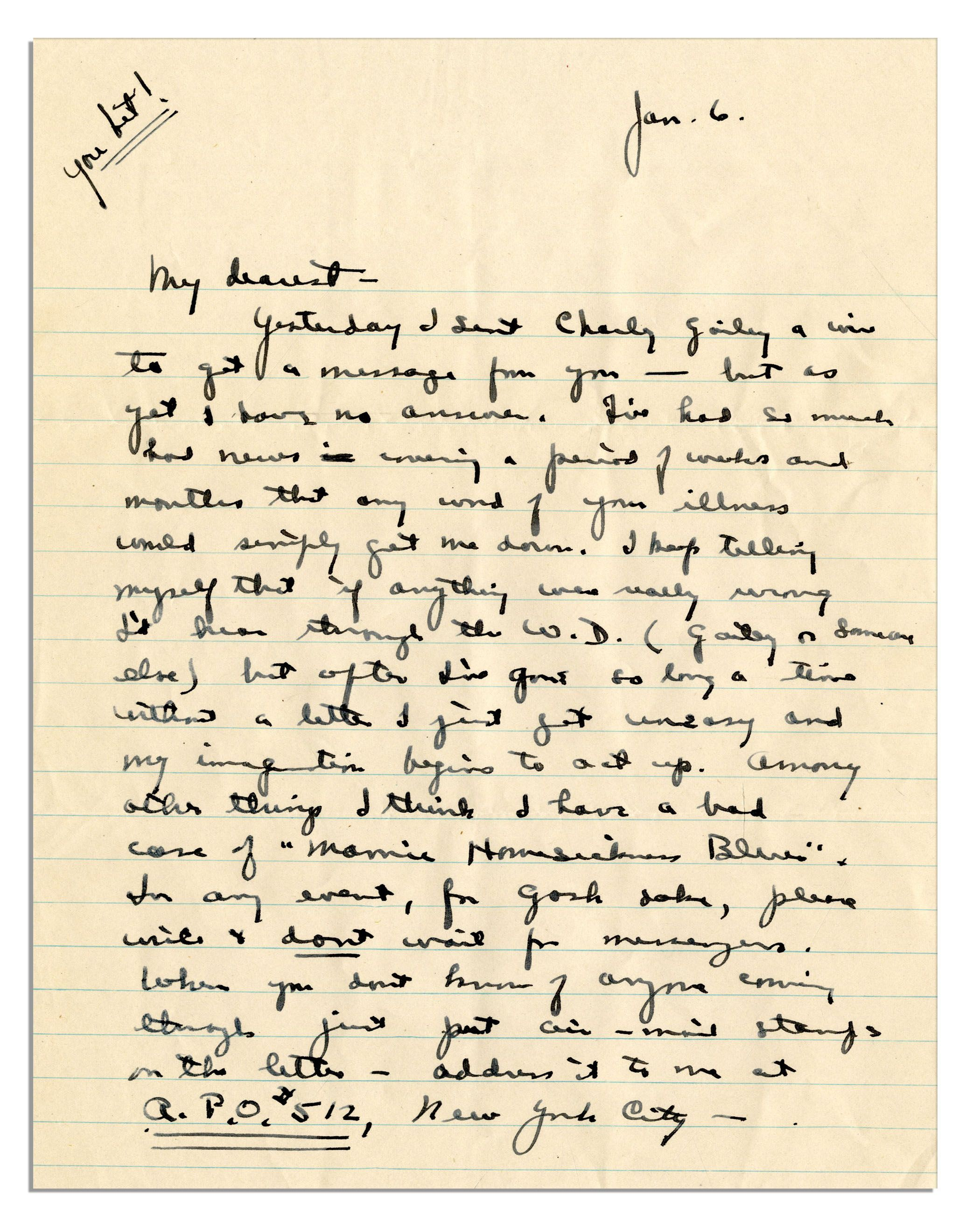 i love dwight eisenhower wwii letter to his wife
