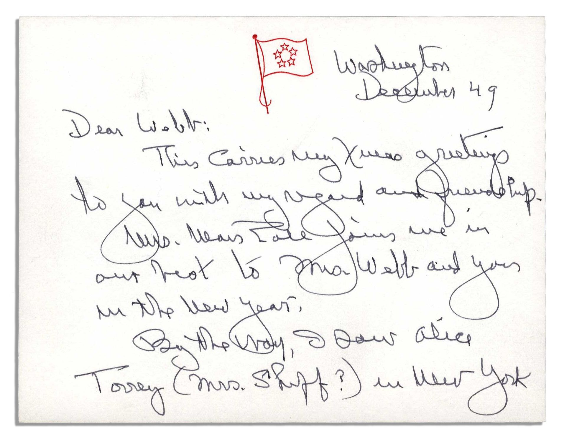 Lot Detail - General George Marshall Autograph Letter Signed -- 1949 ...