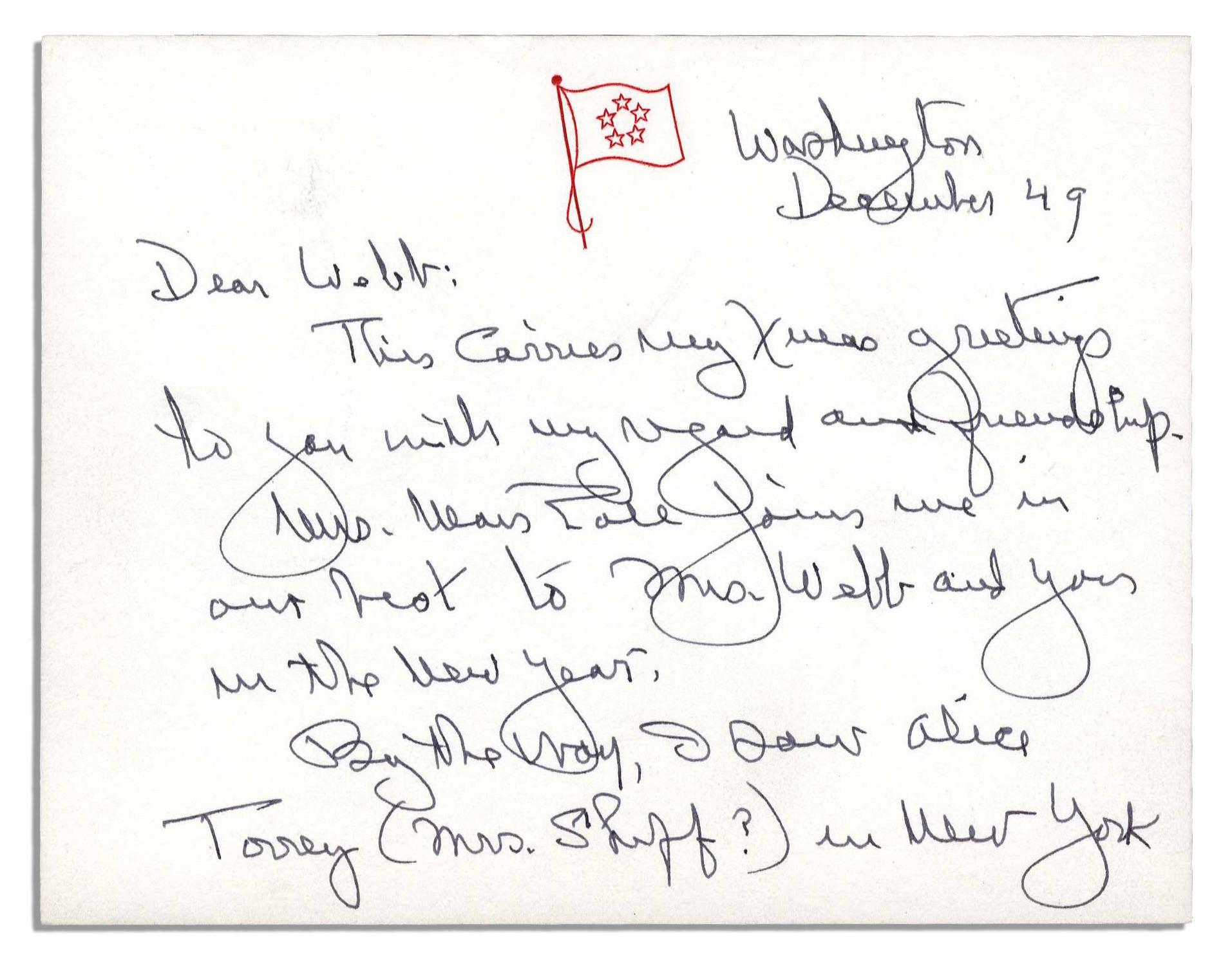 Lot detail general george marshall autograph letter signed general george marshall autograph letter signed 1949 seasons greetings to nasa head james webb kristyandbryce Gallery