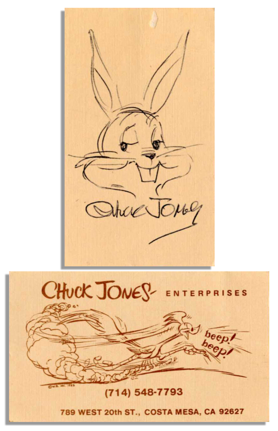 Lot Detail - One-of-a-Kind \'\'Bugs Bunny\'\' Sketch Hand-Drawn and ...