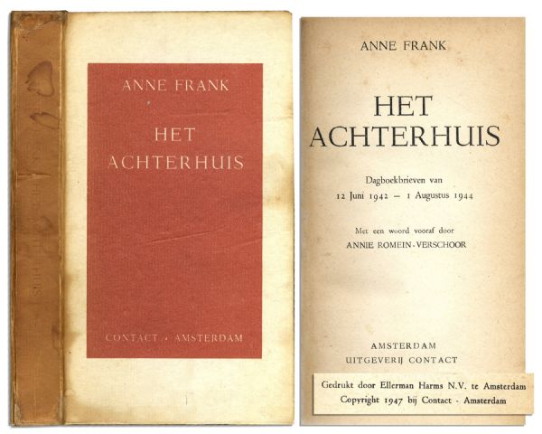 True First Edition, First Printing of ''The Diary of Anne Frank''