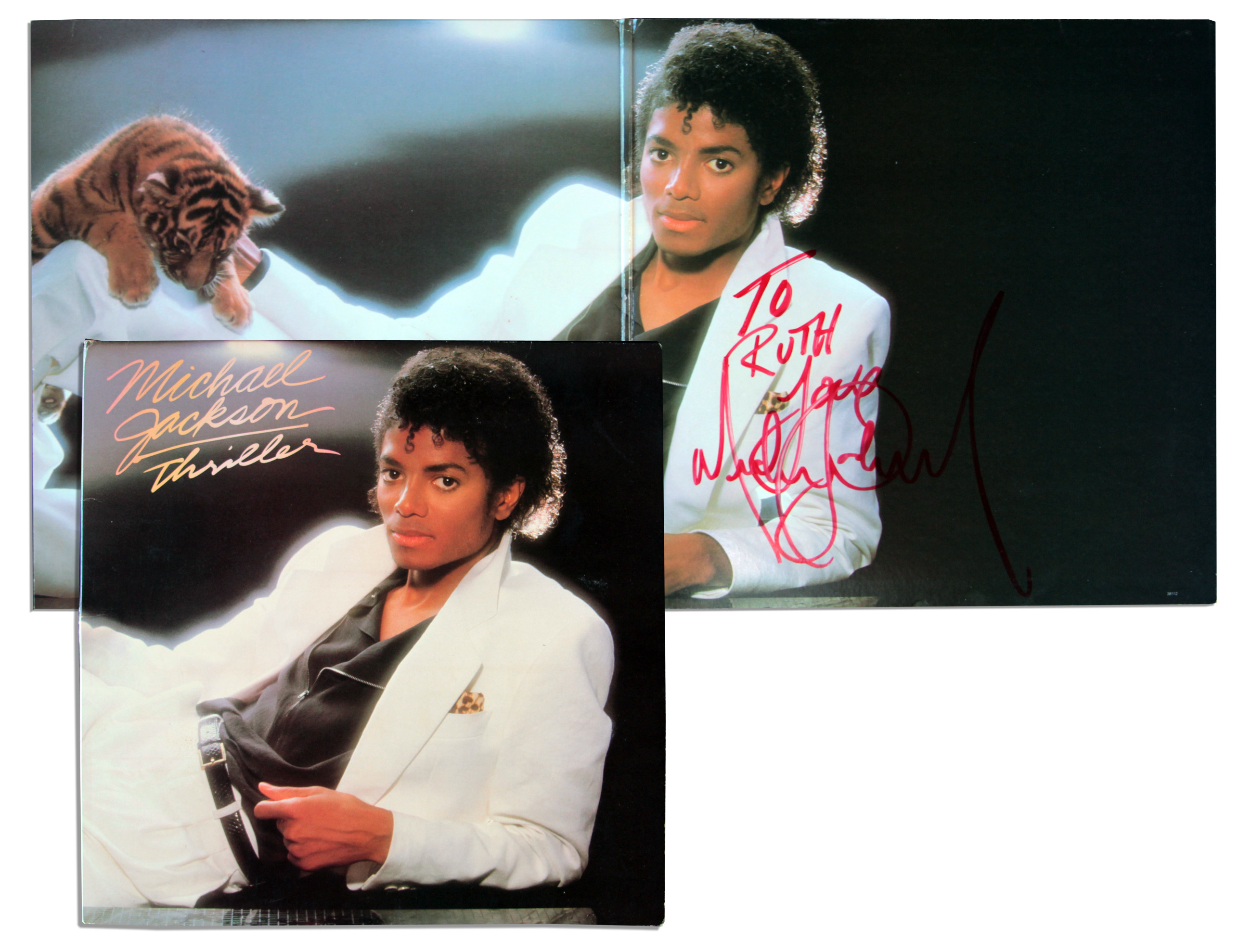 Lot Detail - Michael Jackson ''Thriller'' Album Signed ...