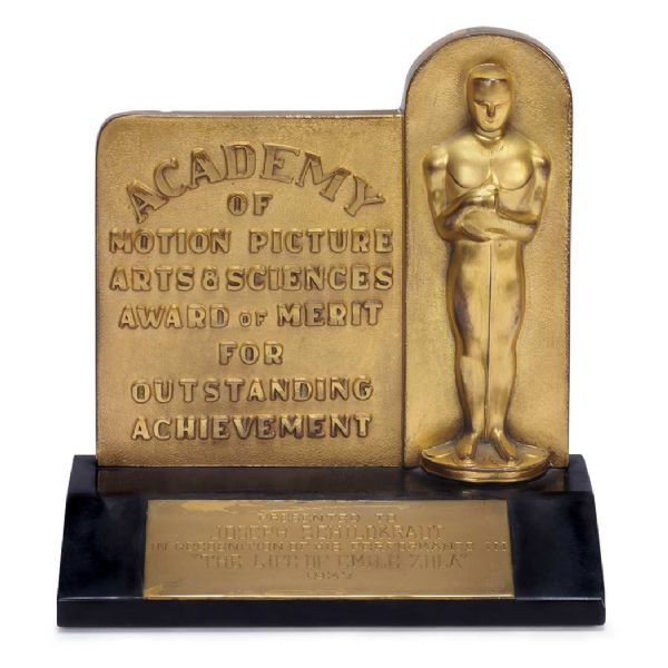 Very Early 1937 Oscar for Best Supporting Actor Awarded to Joseph Schildkraut for ''The Life of Emile Zola'' -- Only the Second Award Ever Presented for a Supporting Actor
