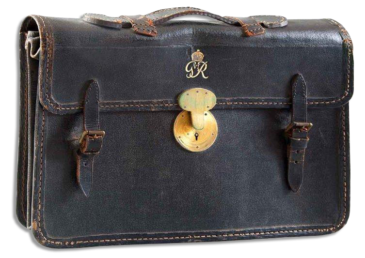 King George Memorabilia King George VI's Personal Attache Case -- With Royal Crest and ''G VI R'' Mongrammed in Gold