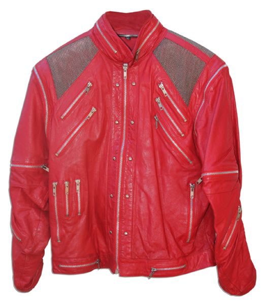 Michael Jackson's Iconic ''Beat It'' Stage-Worn Jacket -- Signed by the King of Pop in the ''Thriller'' Era in 1988