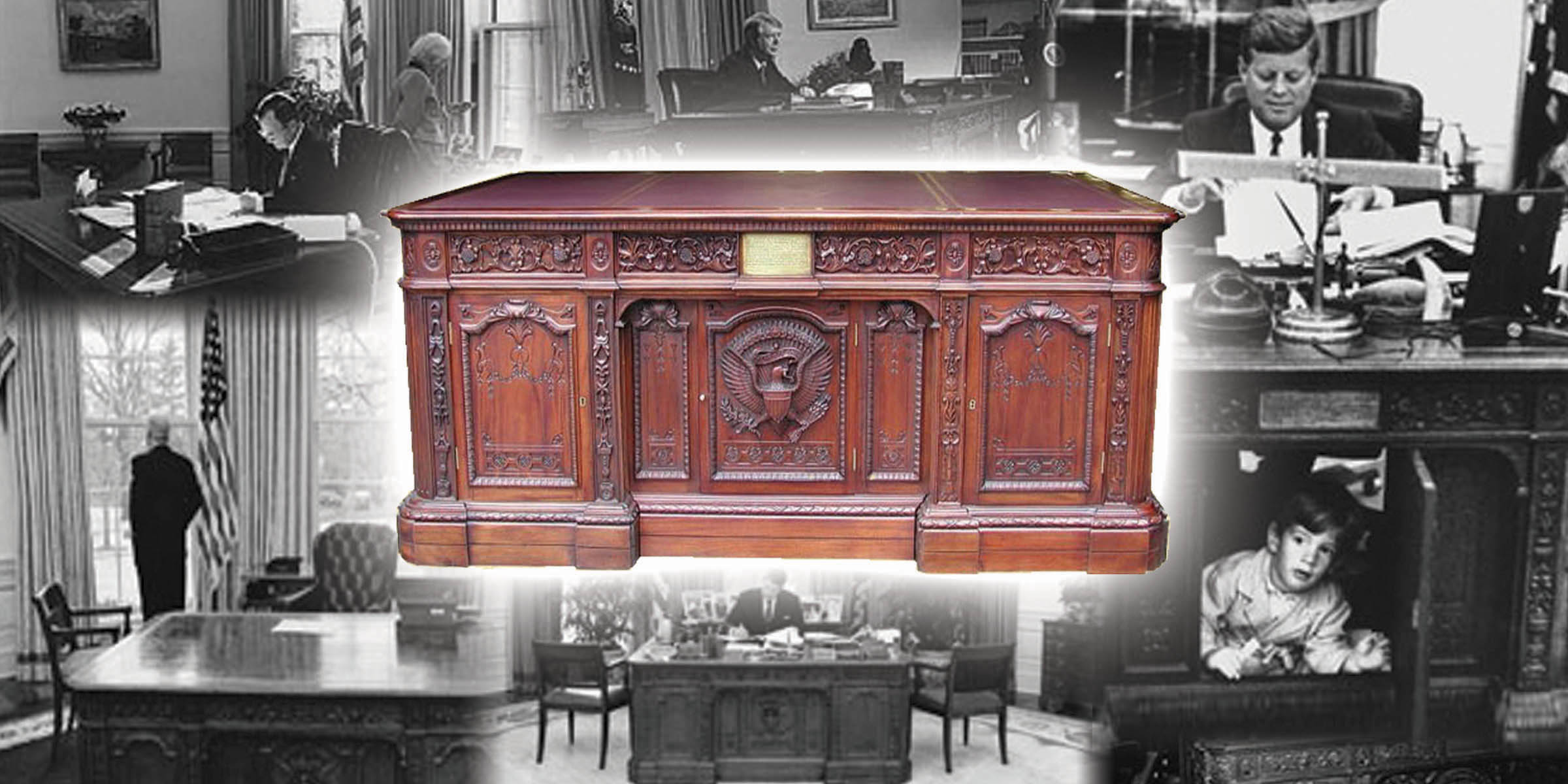 lot detail white house oval office resolute desk