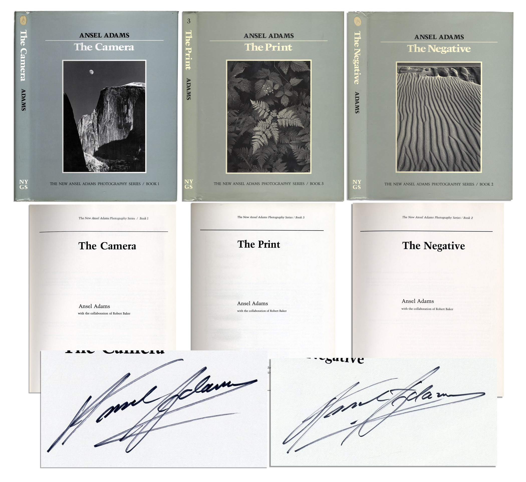 Ansel Adams Signed Set Of The New Photography Series