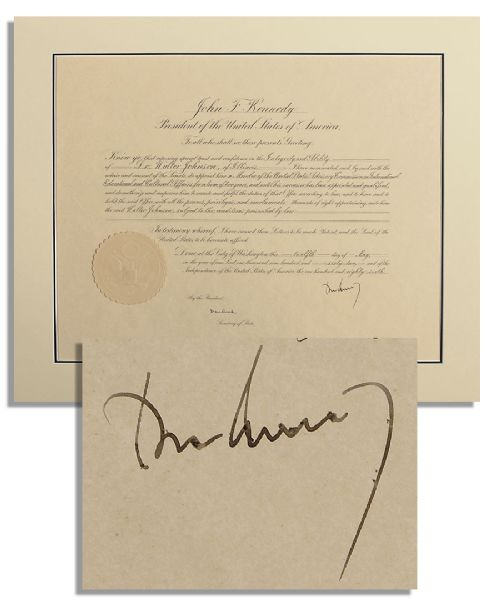 how to delete documents and data on iphone 5 lot detail f kennedy 1962 document signed as president 1962
