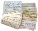 Lot of 100 Personal Checks Signed by Hollywood Star Mary Astor